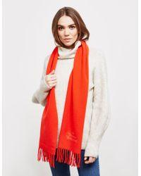 Vivienne Westwood - Womens Wool Scarf Red - Lyst