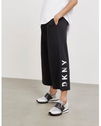 DKNY - Womens High Waisted Jogger Culottes - Online Exclusive Black - Lyst