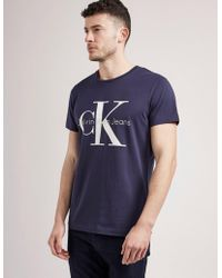 CALVIN KLEIN 205W39NYC - Mens Icon Short Sleeve T-shirt Navy - Lyst