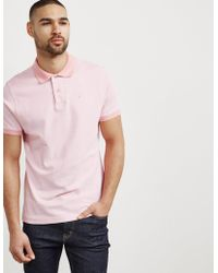 Barbour - Mens Birds Short Sleeve Polo Shirt Pink - Lyst