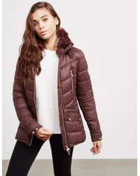 Barbour - Womens International Autocross Quilted Jacket Brown - Lyst