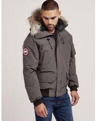 Canada Goose - Mens Chilliwack Padded Bomber Jacket Grey - Lyst