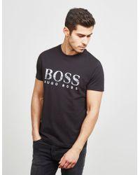 BOSS - Mens Bold Logo Short Sleeve T-shirt Black - Lyst