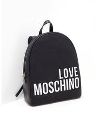 Love Moschino - Logo Backpack Black - Lyst