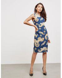 Versace - Womens Printed Dress - Online Exclusive Navy Blue - Lyst