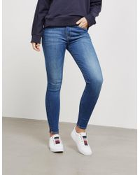 Tommy Hilfiger - Womens Slim Fit Ankle Grazer Jeans - Online Exclusive Blue - Lyst