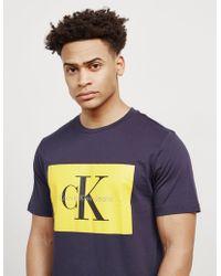 CALVIN KLEIN 205W39NYC - Mens Box Icon Short Sleeve T-shirt Navy Blue - Lyst