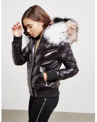 FROCCELLA - Womens Multi Fur Bomber Jacket Black - Lyst
