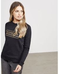 Barbour - Womens International Mugello Sweatshirt Black - Lyst