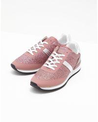 HUGO - Womens Adrienne Trainers Pink - Lyst