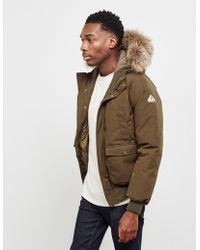 Pyrenex Mistral Fur Padded Jacket Green