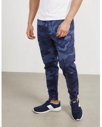 Polo Ralph Lauren - Mens Basic Fleece Track Pants Camo/blue - Lyst