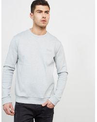 HUGO - Mens Drick Sweatshirt Grey - Lyst