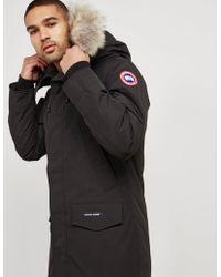 Canada Goose - Mens Langford Padded Parka Jacket Black - Lyst