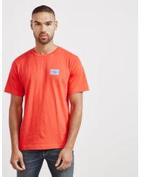 Calvin Klein - Mens Monogram Short Sleeve T-shirt Red - Lyst