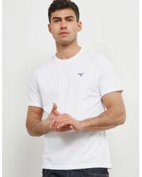 Barbour - Mens Sports Short Sleeve T-shirt White - Lyst