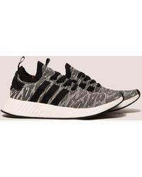 adidas Originals - Mens Nmd_r2 Boost Primeknit Black/white - Lyst