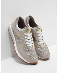Michael Kors - Womens Allie Trainers Gold - Lyst