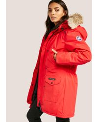 Canada Goose - Womens Trillium Padded Parka Jacket Red - Lyst