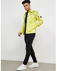 C P Company - Mens Toffee Lightweight Overshirt Yellow - Lyst
