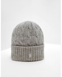 Polo Ralph Lauren - Womens Wool Beanie Grey - Lyst