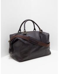 Barbour - Mens Leather Explorer Holdall - Online Exclusive Brown - Lyst
