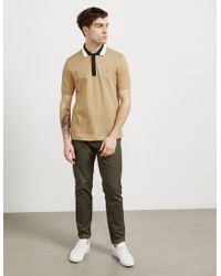 Fred Perry - Mens X Raf Simons Taped Collar Short Sleeve Polo Shirt Brown - Lyst