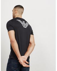 Emporio Armani - Mens Double Eagle Short Sleeve T-shirt Black - Lyst