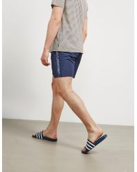CALVIN KLEIN 205W39NYC - Mens Side Logo Swim Shorts Navy Blue - Lyst