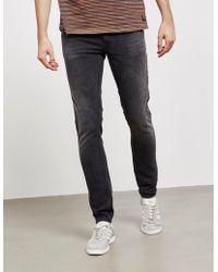 Nudie Jeans - Mens Skinny Lin Jeans Grey - Lyst
