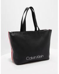 Calvin Klein - Womens Large Tote Bag Black - Lyst