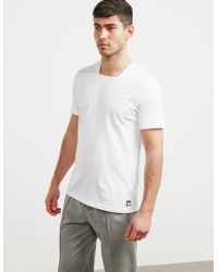 Pal Zileri - Mens Square Neck Short Sleeve T-shirt White - Lyst