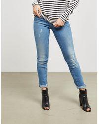 BOSS - Womens J20 Mid Rise Jeans Blue - Lyst