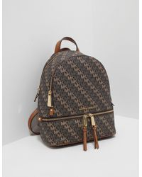 Michael Kors Rhea Zip Medium Backpack Brown/acorn