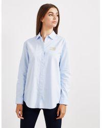 Tommy Hilfiger - Womens Girlfriend Long Sleeve Shirt - Online Exclusive Blue - Lyst