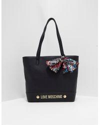 Love Moschino - Womens Scarf Shopper Bag Black - Lyst