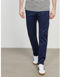 Edwin - Mens Ed-55 Relaxed Tapered Chinos Navy Blue - Lyst