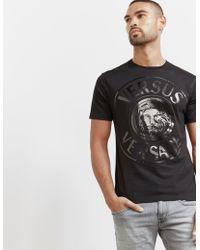 Versus - Mens Lion Stamp Short Sleeve T-shirt Black - Lyst