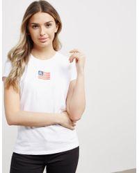 Polo Ralph Lauren - Womens Tiny Flag Short Sleeve T-shirt White - Lyst
