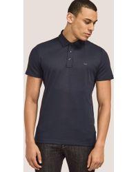 Michael Kors - Short Sleeve Sleek Polo Shirt Blue - Lyst