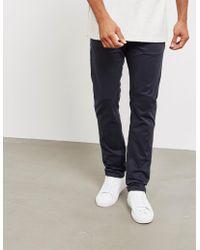 Nudie Jeans - Mens Adam Slim Chinos Navy Blue - Lyst