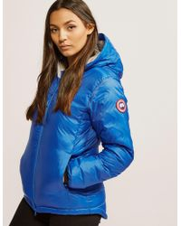 Canada Goose - Womens Pbi Camp Hooded Padded Jacket Blue - Lyst