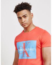 CALVIN KLEIN 205W39NYC - Mens Monogram Box Short Sleeve T-shirt Red - Lyst