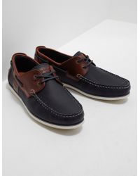 Barbour | Mens Capstan Boat Shoes Navy | Lyst