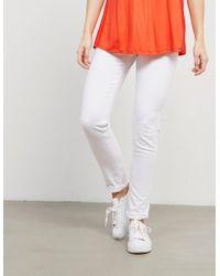 BOSS - Womens J20 Mid Rise Jeans White - Lyst