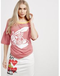 Vivienne Westwood - Anglomania Midling Orb Short Sleeve T-shirt Red - Lyst