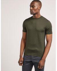 Armani - Mens Pattern Short Sleeve T-shirt Khaki - Lyst