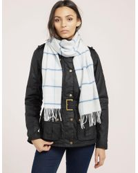 Barbour - Womens Country Tatter Scarf White - Lyst