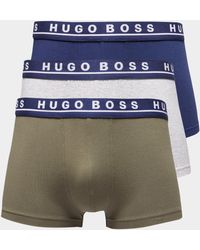 BOSS - Mens 3-pack Boxer Shorts Khaki/grey/navy/khaki/grey/navy - Lyst