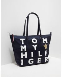 Tommy Hilfiger - Womens Poppy Tote Bag Navy - Lyst